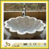 Dessus/partie supérieure du comptoir de marbre blancs normaux préfabriqués de vanité de Calacatta pour la salle de bains/cuisine