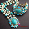 Monili stabiliti della nuova di modo branelli della perla collana di lusso del braccialetto dei 2017