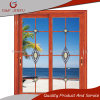 Puertas deslizantes de cristal endurecidas doble de aluminio de mirada de madera americanas del perfil