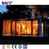 Casa ensanchable prefabricada del envase del panel de emparedado del precio bajo los 20FT