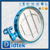 Didtek больших размеров Dn2200 Двухстворчатый клапан вентиляции с помощью электропривода
