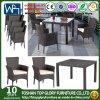 فناء [ويكر] أثاث لازم مجموعة كرسي تثبيت طاولة مربّع فناء يتعشّى مجموعة [5-بيس]