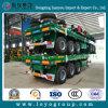 Remorque de bâti plat de Sinotruk semi pour le transport de conteneur