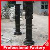 Columna romana de mármol negro pulido