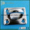 Plaque carrée marine d'oeil d'acier inoxydable
