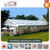 Tienda de campaña del Partido de pico alto para la boda con cubierta de techo transparente
