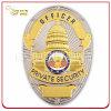 Personnalisés insigne de police de métal plaqué or pour l'agent de sécurité privée