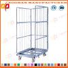 Malla de alambre de Metal industrial contenedor de almacén de jaula con ruedas (ZHra74).