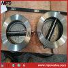 Aço inoxidável tipo Wafer placa dupla Válvula de Giro