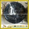 Nègre Marquina/marbre noir de Marquina au-dessus de contre- bassin pour la salle de bains