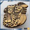 Vecchio disegno del distintivo 3D di stile dell'Egitto del metallo d'ottone antico