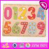 2015 Puzzle inteligente de madeira em brinquedos para crianças, número de ensino Puzzle de madeira, Banheira de vender o Puzzle de madeira W14b055