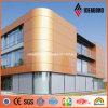 Pannello di parete esterna di alluminio metallico di rame del Brown di formato standard di Ideabond
