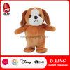 プラシ天の漫画の動物によって詰められるおもちゃの子犬のプラシ天のトイドッグ