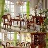 목제 식당 가구를 위한 의자 식사를 가진 식탁