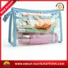 Sac cosmétique clair de lavage de PVC de qualité, sac d'agrément pour la ligne aérienne