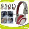 빨간 이동할 수 있는 부속품 금속 스포츠 입체 음향 헤드폰