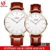 Relógios impermeáveis luxuosos da moda do relógio de pulso de quartzo da boa qualidade do Mens do relógio do couro genuíno da forma Yxl-133