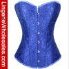 Corsé atractivo floral azul de la ropa interior de las mujeres