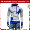 Hoodies blu e grigio dell'alto collare di modo poco costoso all'ingrosso (ELTHI-36)