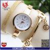 호화스러운 Yxl-71 12017 형식 상표 Vosliom는 선물 상자를 가진 숙녀 시계 여자 금 모조 다이아몬드 팔찌 방수 시계를 석영 본다