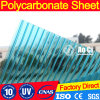Plastic Kristal Twee van het Bouwmateriaal het Holle Blad van PC van het Polycarbonaat van de Muur
