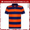 Hommes rayés de chemises de polo de polyester à séchage rapide de coton (ELTMPJ-203)