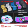 새로운 디자인 LED 다채로운 전기 USB 조장 방적공 점화기