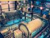 Usine de meulage industrielle