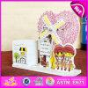 2015 Cute Kids Toy Caixa de música de madeira, Caixa de música de brinquedo de madeira encantadora, Atacado Artesanato de madeira Caixa de música de madeira com titular de caneta W02A036