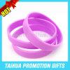 Stampa in bianco del braccialetto del silicone di promozione il vostro Wristband del testo (TH-08695)