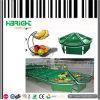 Estante de exposição de frutas e vegetais de supermercado de acrílico