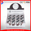 Garrafa de vidro com plástico Sprinkle Seal 12 frascos de especiarias de vidro com caixa de exibição