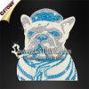 Shirtsのための煙るBulldog Glitter Clothing Bling Designs