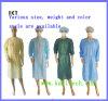No tejido bata quirúrgica Vendaje médico para el Hospital Industria de Alimentos o Kxt-SG01
