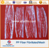 Fibra Fibra Química PP Fibra Fibrilada para Hormigón Cemento Mortero