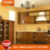 Armários de madeira maciça personalizado na cozinha de estilo americano