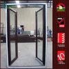 Renolit Woodgrain alemão UPVC portas de vidro de painel duplo