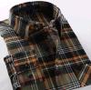 Camicia della flanella controllata plaid di modo degli uomini
