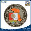 Pièce de monnaie d'enjeu en métal avec le propriétaire votre logo