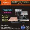 40X60cm stampatrice pneumatica della maglietta dei 2 delle stazioni di lavoro di scambio di calore indumenti della pressa