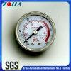 40mm 50mm placcano il manometro generale di caso d'acciaio con la scala rossa per l'avvertenza