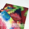 Tecido de poliéster impresso digital com padrão de folhas frescas