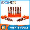 Herramienta de corte CNC de carburo de tungsteno Tisin con flautas 2/4