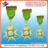 I militari su ordinazione della medaglia del metallo dell'oro assegnano la medaglia con cavo (lzy2014C-0007)
