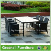 庭の屋外の家具を食事する全天候用6人のテラス