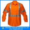 X fornitori arancioni della camicia del Mens del lavoro di alta visibilità posteriore
