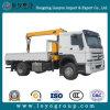 販売のための取付けられたクレーントラックが付いているSinotruk HOWO 4X2のダンプトラック
