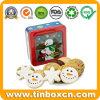 Квадратное олово окна рождества для коробки подарка печенья печенья упаковывая