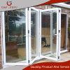 Puerta plegable de cristal del patio del marco de aluminio revestido del polvo